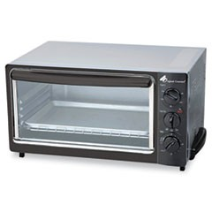 Multi-Function Toaster Oven with Multi-Use Pan, 15 x 10 x 8, Black/Stainless
