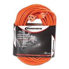 Indoor/Outdoor Extension Cord, 100ft, Orange