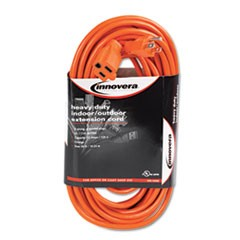 Indoor/Outdoor Extension Cord, 50ft, Orange
