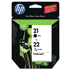 HP 21 Black/HP 22 Tri-Color (C9509FN) 2-pack Original Ink Cartridges