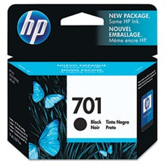 HP 701, (CC635A) Black Original Ink Cartridge