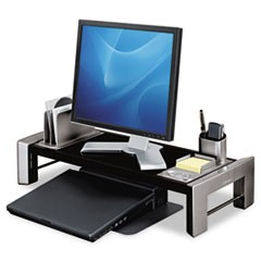 Professional Series Flat Panel Workstation, 25 7/8 x 11 1/2 x 4 1/2,Black/Silver