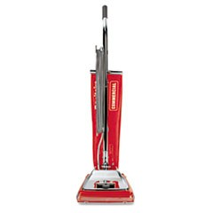 Quick Kleen Commercial Upright Vacuum with Vibra-Groomer II, 17.5lb, Red