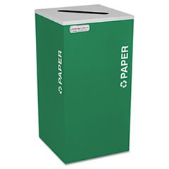 Kaleidoscope Collection Paper-Recycling Receptacle, 24gal, Emerald Green