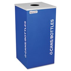 Kaleidoscope Collection Bottle/Can-Recycling Receptacle, 24 gal, Royal Blue