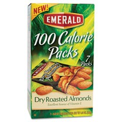 100 Calorie Pack Dry Roasted Almonds, .63oz Packs, 7/Box