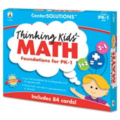 CenterSOLUTIONS Thinking Kids Math Cards, Pre-K and Grade 1 Level