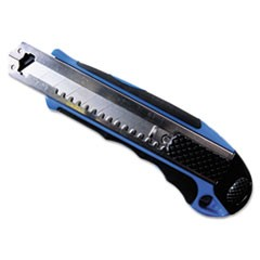Heavy-Duty Snap Blade Utility Knife, Four 8-Point Blades, Retractable, Blue