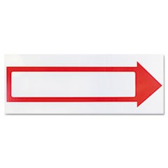 Stake Sign, 6 x 17, Blank White with Printed Red Arrow