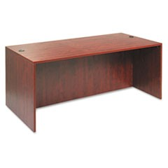 Valencia Series Straight Front Desk Shell, 71w x 35 1/2d x 29 1/2h, Med Cherry
