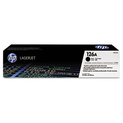 HP 126A, (CE310A) Black Original LaserJet Toner Cartridge