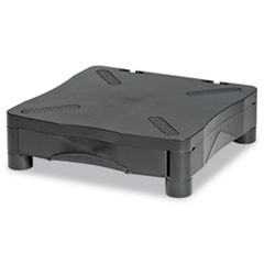 Adjustable Monitor Stand w/Single Storage Drawer, 13-1/4 x 13-1/2 x 2-3/4 to 4