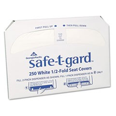 Half-Fold Toilet Seat Covers, White, 250/Pack, 20 Boxes/Carton