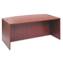 Valencia Bow Front Desk Shell, 71w x 35 1/2d to 41 3/8d x 29 1/2h, Medium Cherry