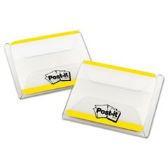 "2"" and 3"" Tabs, Lined, 1/5-Cut Tabs, Yellow, 2"" Wide, 50/Pack"