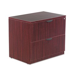 Valencia Series Two Drawer Lateral File, 34w x 22 3/4d x 29 1/2h, Mahogany