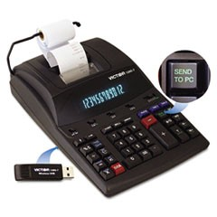 1280-7 Two-Color Printing Calculator w/USB, Black/Red Print, 4.6 Lines/Sec
