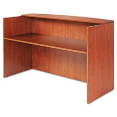 Valencia Series Reception Desk w/Counter, 71w x 35 1/2d x 42 1/2h, Medium Cherry
