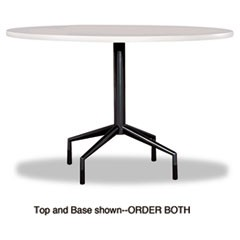 "RSVP Series Standard Fixed Height Table Base, 28"" dia. x 29h, Black"