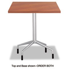 "RSVP Series Standard Fixed Height Table Base, 28"" dia. x 29h, Silver"