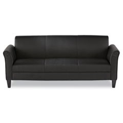 Reception Lounge Furniture, 3-Cushion Sofa, 77w x 31-1/2d x 32h, Black