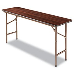 Wood Folding Table, Rectangular, 59 7/8w x 17 3/4d x 29 1/8h, Mahogany