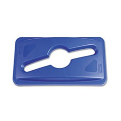 Slim Jim Single Stream Recycling Top for Slim Jim Containers, Blue