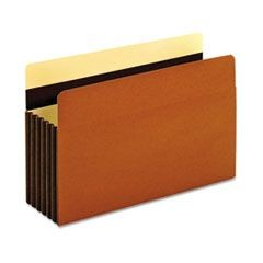 Heavy-Duty File Pockets, Legal, Redrope, 5/Box