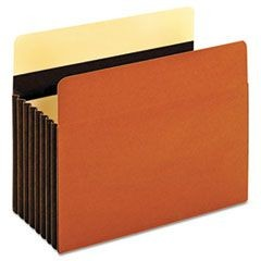 Heavy-Duty File Pockets, Letter, Redrope, 5/Box