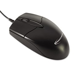 Innovera MID-SIZE OPTICAL MOUSE, USB 2.0, LEFT/RIGHT HAND USE, BLACK