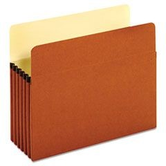 "Bulk File Pockets, Straight Cut, 1 Pocket, Letter, 5 1/4"" Exp., Brown, 50/Carton"