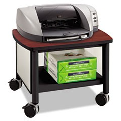 Impromptu Under Table Printer Stand, 20.5w x 16.5d x 14.5h, Black/Cherry