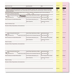 Digital Carbonless Paper, 3-Part, 8 1/2 x 11, White/Canary/Pink, 835/CT