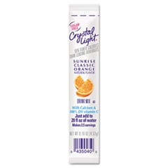 Crystal Light On The Go, Sunrise Orange, .16Oz Packets, 30/Box