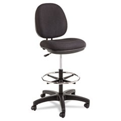 Alera Interval Series Swivel Task Stool, 100% Acrylic, Black