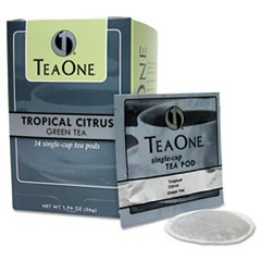 Tea Pods, Tropical Citrus Green, 14/Box