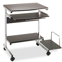 Portrait PC Desk Cart Mobile Workstation, 36-1/2w x 19-1/4d x 31h, Anthracite