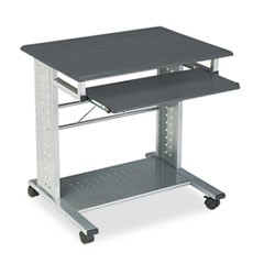 Empire Mobile PC Cart, 29-3/4w x 23-1/2d x 29-3/4h, Anthracite