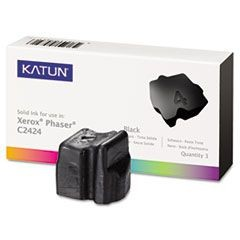 KAT37978 C2424 Compatible, 108R00663 Solid Ink, 3400 Yield, 3/Box, Black