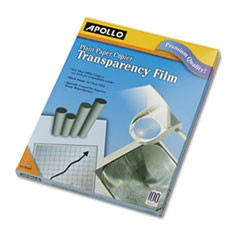 Apollo Plain Paper B/W Transparency Film, Letter, Clear, 100/Box