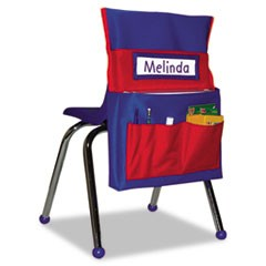 Chairback Buddy Pocket Chart, 15 x 19, Blue/Red