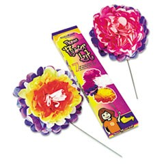 "Tissue Paper Flower Kit, 10"", 7 per kit, Assorted Colors"