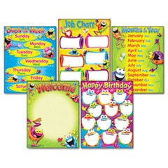 Learning Chart Combo Pack, Frog-tastic! Classroom Basics, 17w x 22, 5/Pack