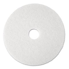 "Super Polish Floor Pad 4100, 17"" Diameter, White, 5/Carton"