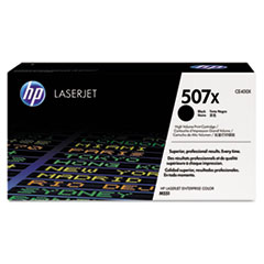 HP 507X, (CE400X) High Yield Black Original LaserJet Toner Cartridge