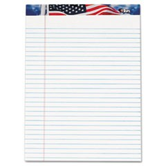 American Pride Writing Pad, Legal/Wide, 8 1/2 x 11 3/4, White, 50 Sheets, 12/PK