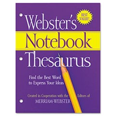 Notebook Thesaurus, Three-Hole Punched, Paperback, 80 Pages