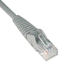 Cat6 Gigabit Snagless Molded Patch Cable, RJ45 (M/M), 1 ft., Gray