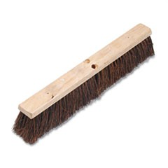 "Floor Brush Head, 3 1/4"" Natural Palmyra Fiber, 24"""