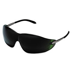 Blackjack Safety Glasses, Brass Frame, Green Lens